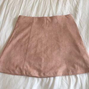 NWOT cara blush suede skirt